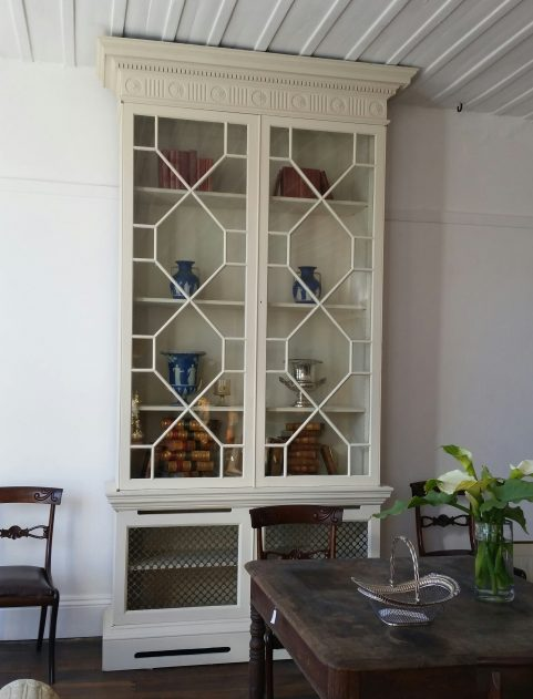 Adam Revival painted library bookcase c.1870