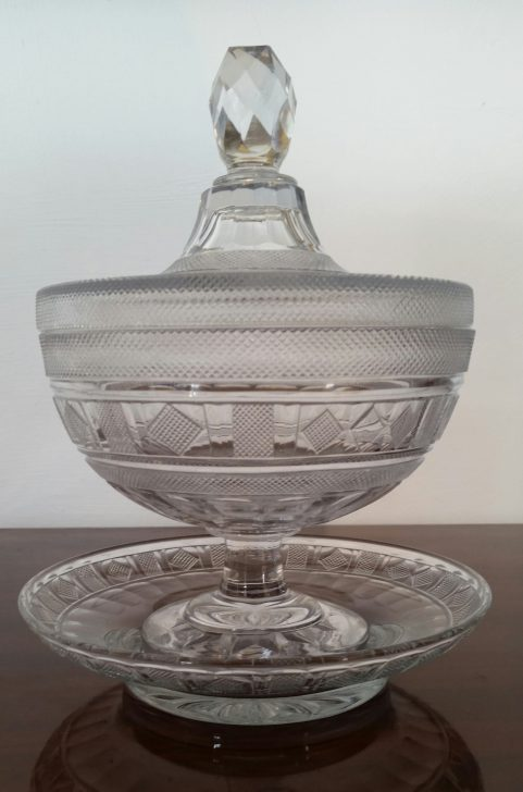 Regency punch  bowl, lid & stand c.1815