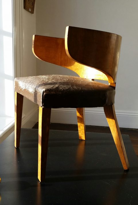 French art deco period Grecian library chair c. 1925