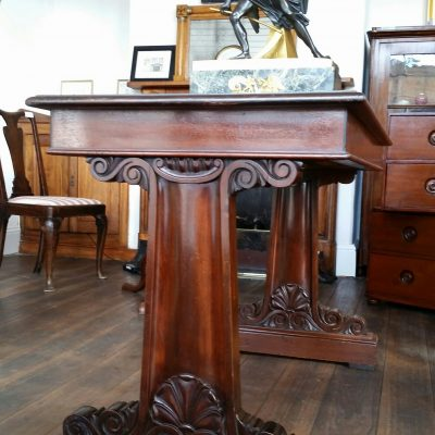 Greek revival mahogany lobby or  centre table c. 1830