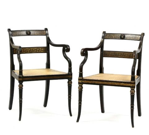 Fine pair Regency period armchairs