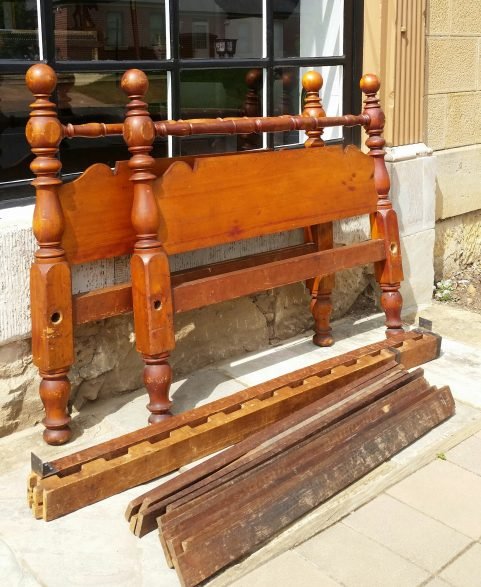 Tasmanian Colonial period Huon pine double bed c. 1845
