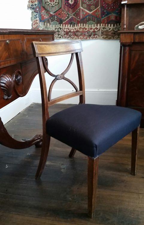 Gillows type cross back chair c 1800