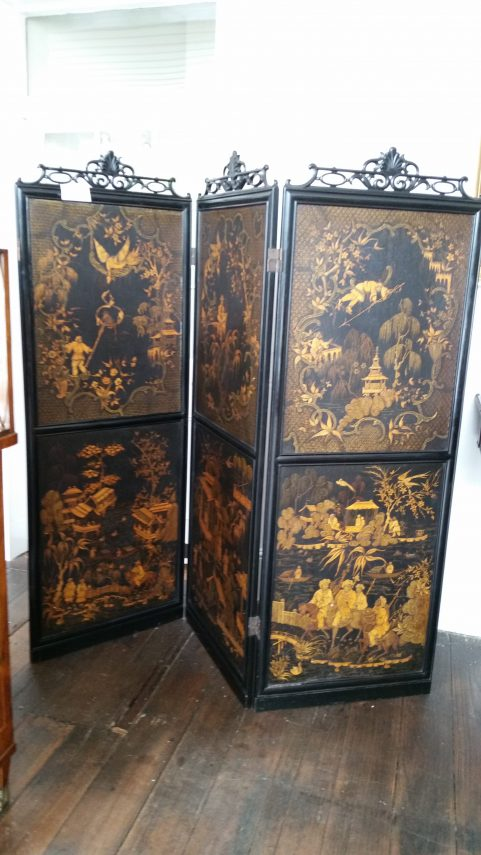 Regency three fold Chinoiserie Screen