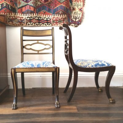 Pair of Irish Regency chairs c. 1820