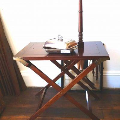 Regency revival mahogany camp table