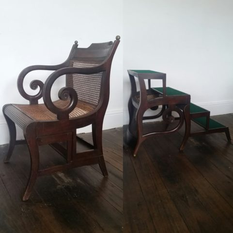 Metamorphic library chair c.1820