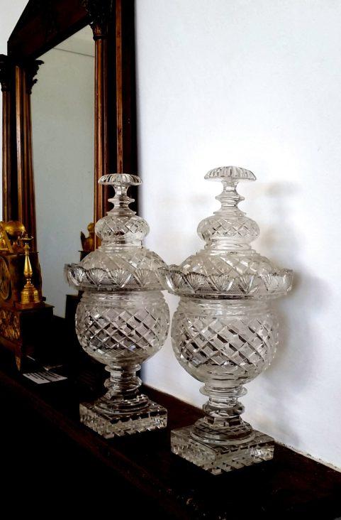 Pair of Irish Regency period vases and covers c.1815