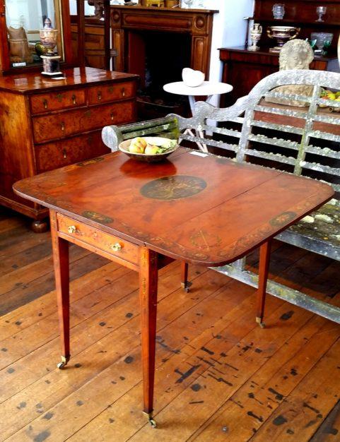 George III period satinwood Pembroke table c. 1800