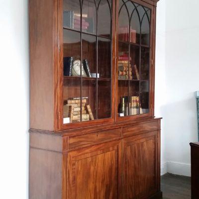 Gillows Regency period mahogany library bookcase c 1810