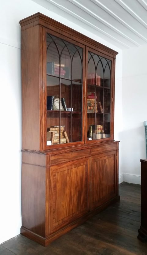 Gillows Regency period mahogany library bookcase c 1810