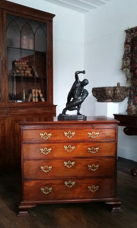 Chippendale period gentleman's chest of drawers c 1770