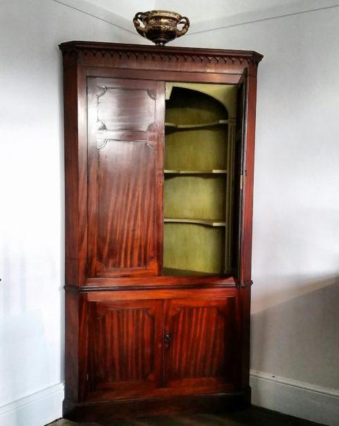 George III period corner cabinet c.1800