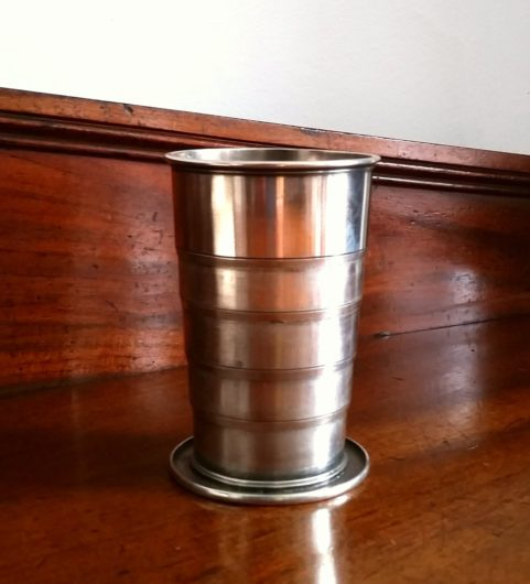 Campaign collapsible cup c 1900