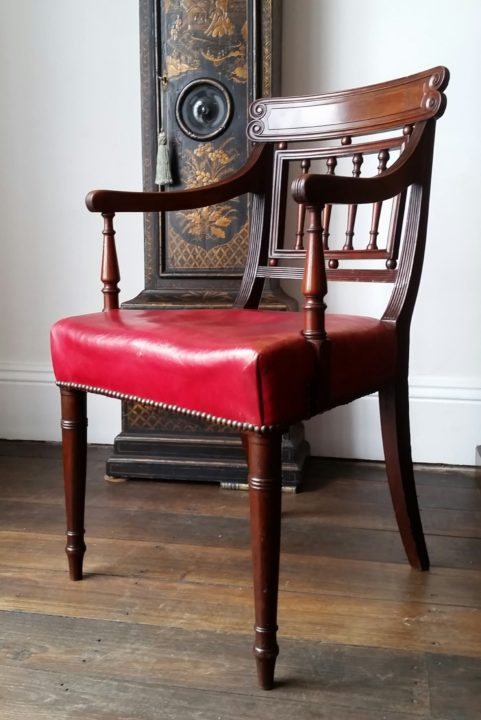 Regency elbow chair attributed to Gillows c 1815