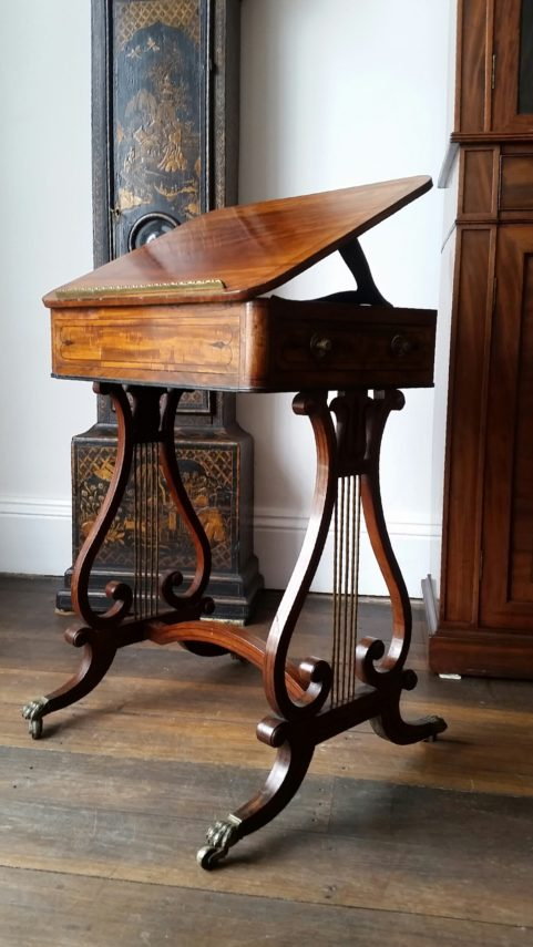 Regency period mahogany reading table c.1810