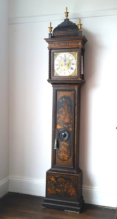 Queen Anne period Chinoiserie lacquered longcase clock c.1710
