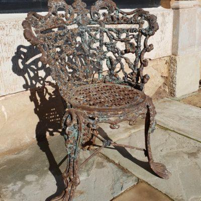 Victorian Cast Iron Garden Chair C 1845