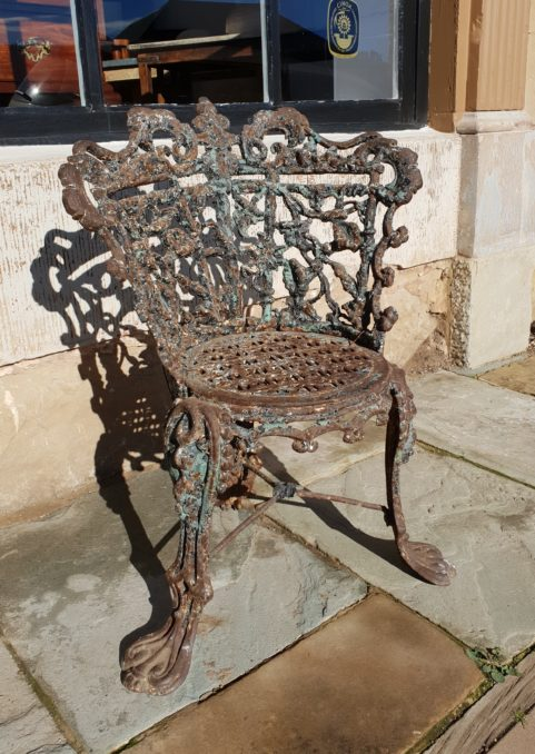 Victorian cast iron garden chair c 1845