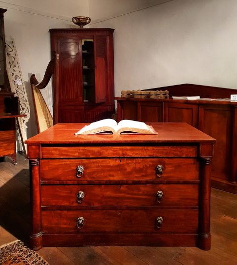 Regency print cabinet c 1820