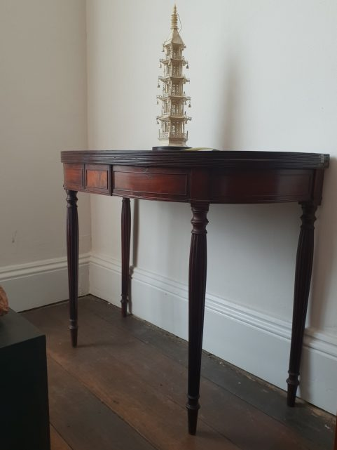 English Regency mahogany tea table c 1810