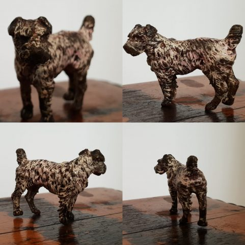 Viennese cold painted bronze terrier c 1890