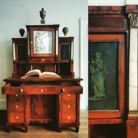 Copenhagen neo-classical ladies writing cabinet c.1810