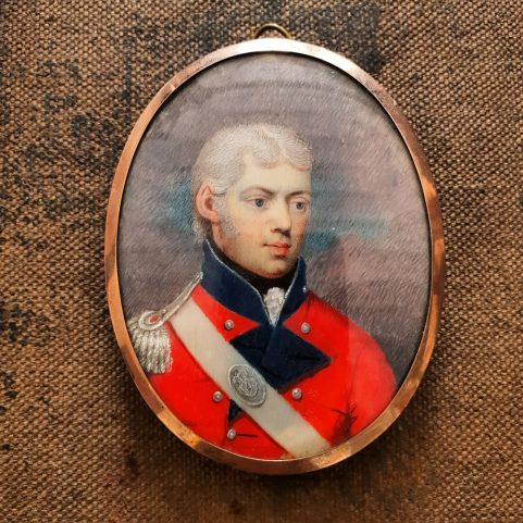 Portrait miniature of a General of the Fourth Regiment  of Foot, c 1820 – 1830