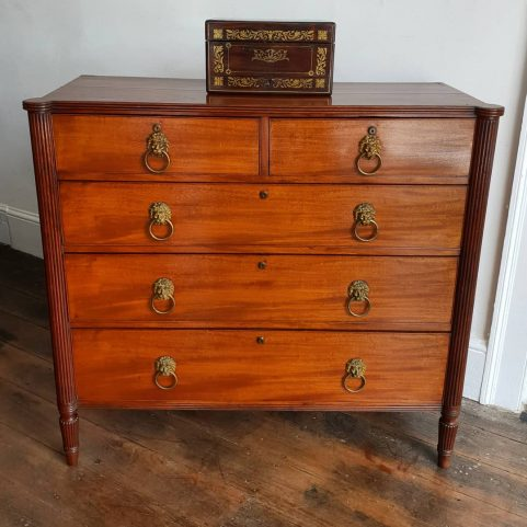 Gillows turret end Regency chest of drawers