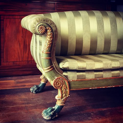Regency Grecian decorated sofa attributed to Gillows c 1820