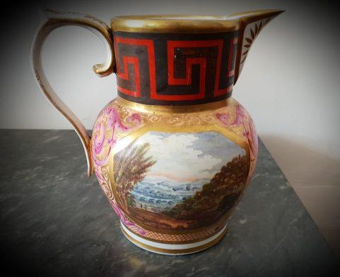 Coalport 'Grecian' water jug c 1815.