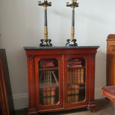 Regency mahogany marble top cabinet c 1825