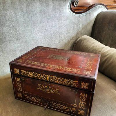 Regency rosewood jewel case c 1820