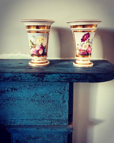 Pair of Regency spill vases c 1810