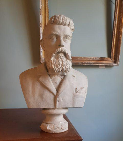 Australian plaster library bust c 1870.
