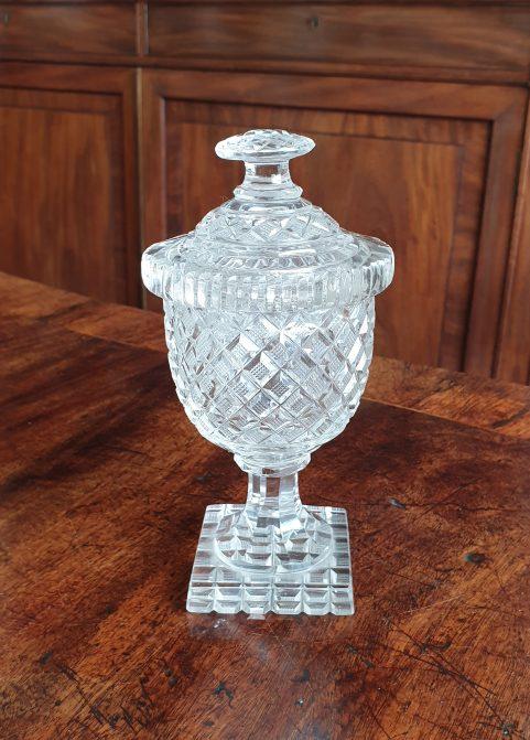 Irish Regency lidded vase c 1820