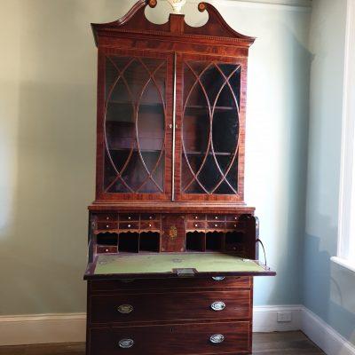 George III escritoire  bookcase c 1790