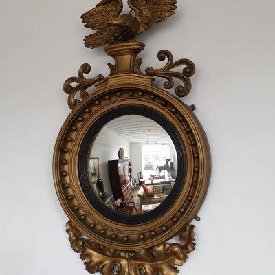Regency convex mirror c 1820