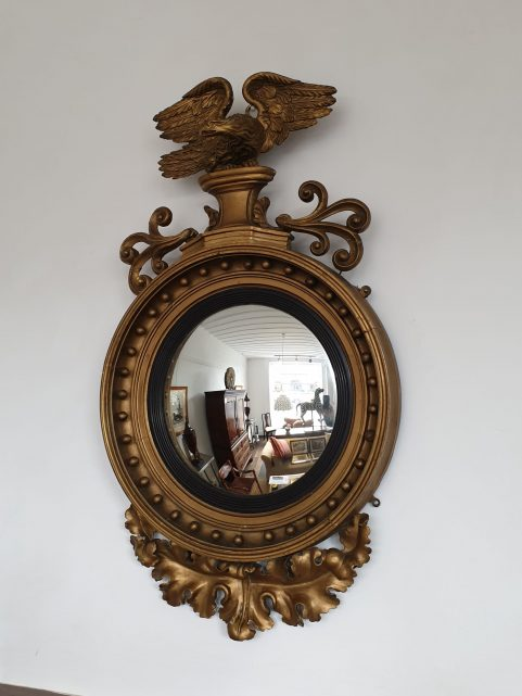 Regency convex mirror c 1820