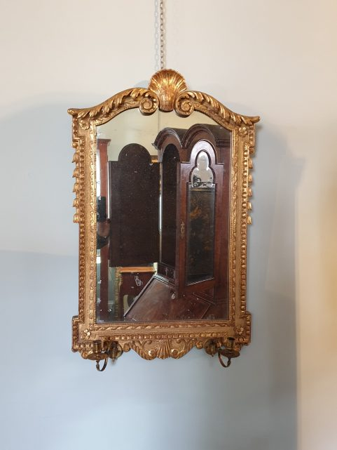 Pair of Georgian revival sconce mirrors c 1870