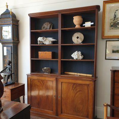 Regency mahogany open library bookcase c 1815