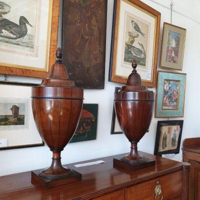 Pair of George III vase knifeboxes c 1810