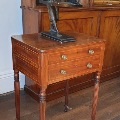 Regency mahogany Doctor's table c 1825