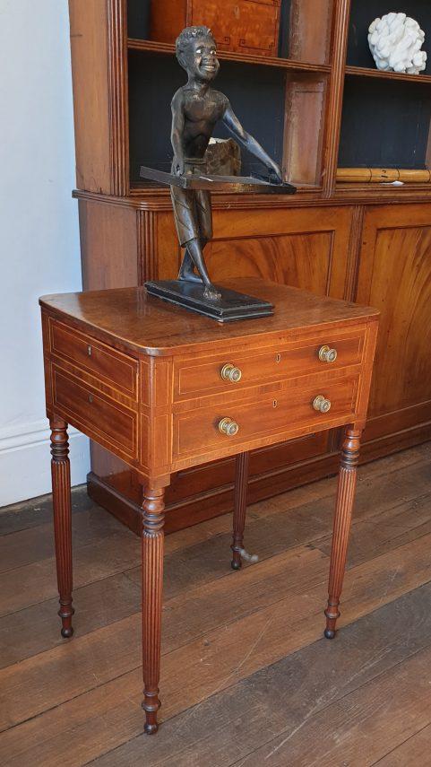 Regency mahogany Doctor's table c 1825