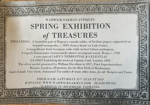 Spring Exhibition of Treasures, opening today at 10am