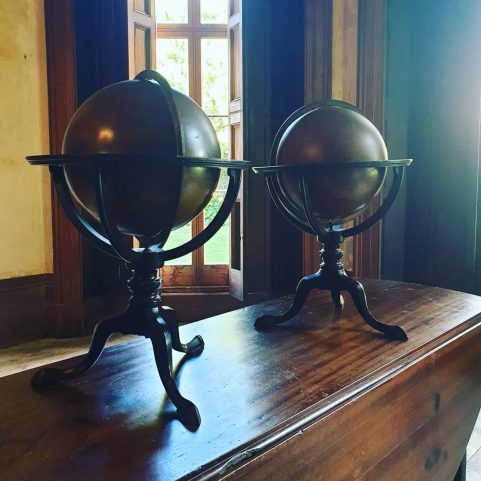 PAIR OF ENGLISH GEORGE III PERIOD LIBRARY GLOBES,  By J & W. Cary, London 1800