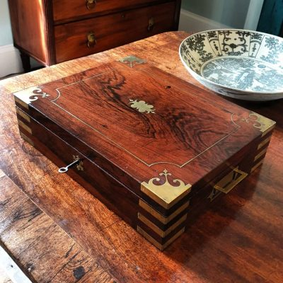 Regency campaign shell box c 1815