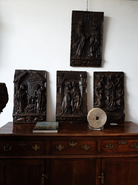 set of Gothic plaster panels c.1880