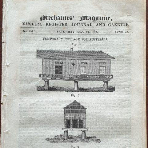 Australian Portable House specifications 1832