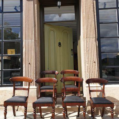 Set of six Tasmanian cedar dining chairs c 1845